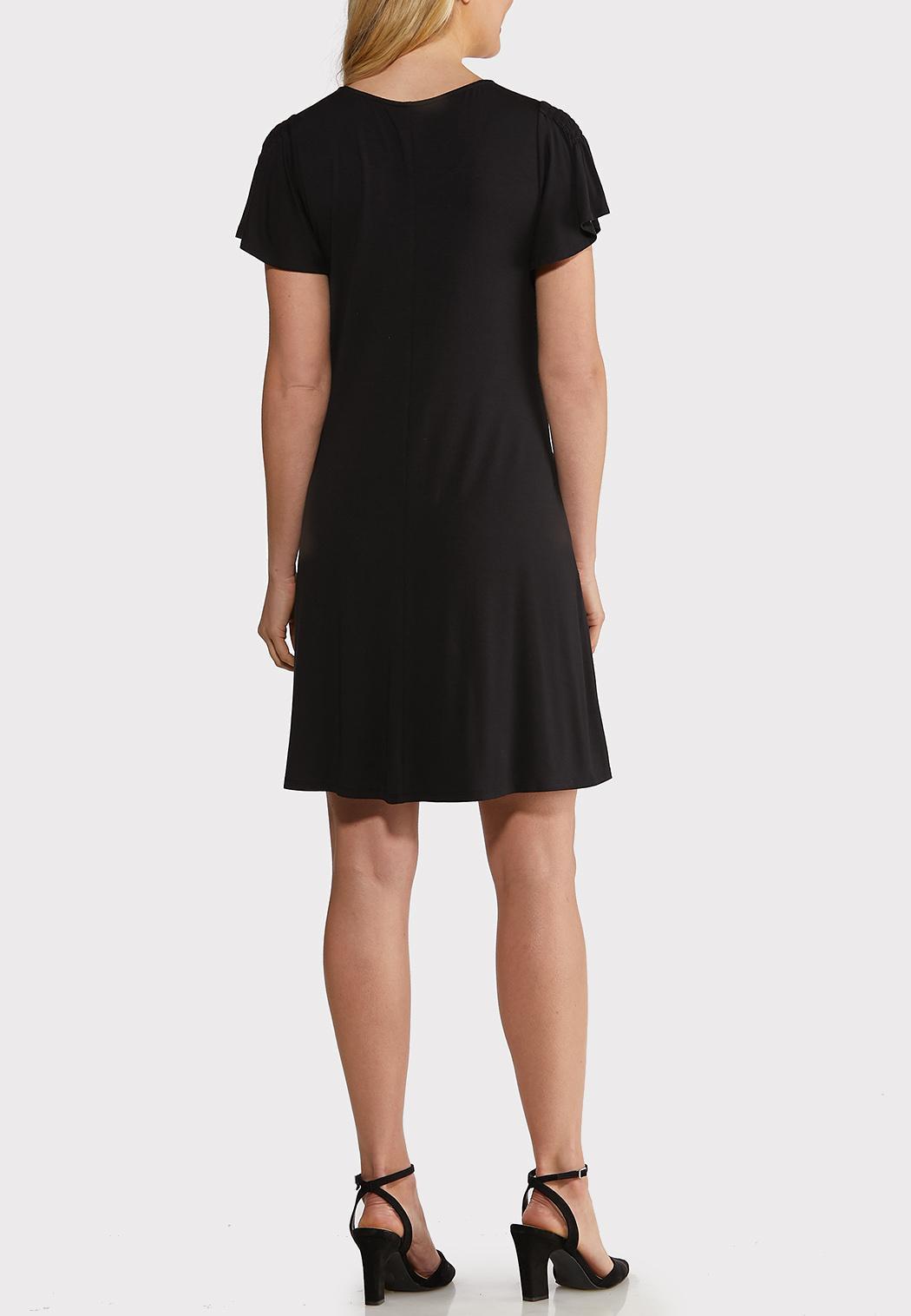 Plus Size Flutter Sleeve Swing Dress (Item #44193769)