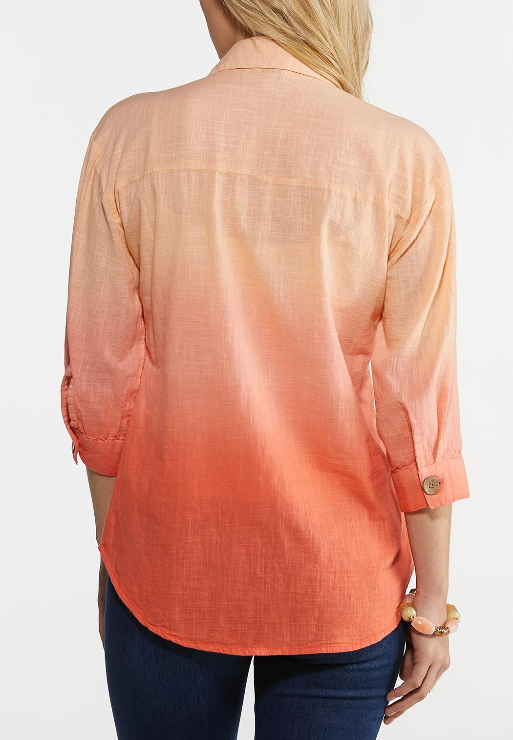 Coral Dip Dye Shirt (Item #44193849)