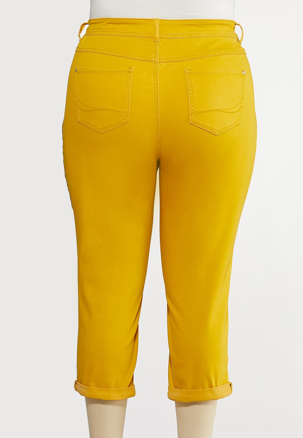 Plus Size Bright Cropped Jeans (Item #44194471)