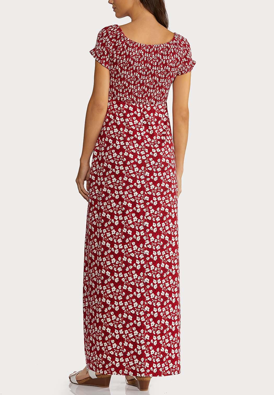 Plus Size Smocked Floral Maxi Dress (Item #44194647)