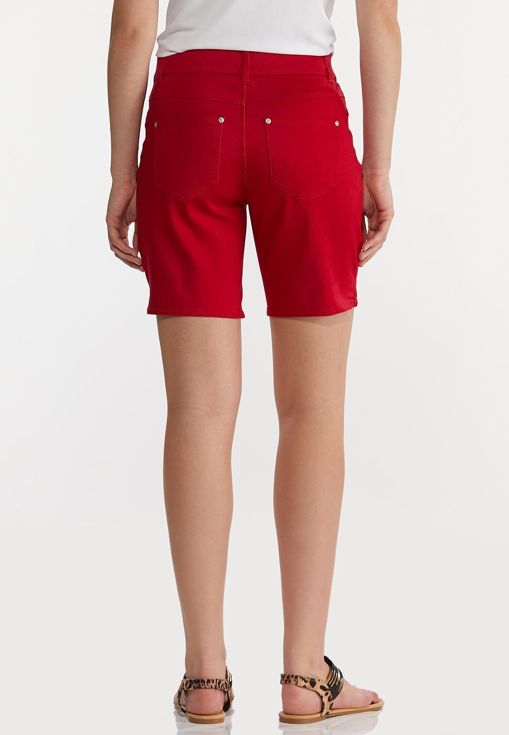 Red Denim Shorts (Item #44197521)