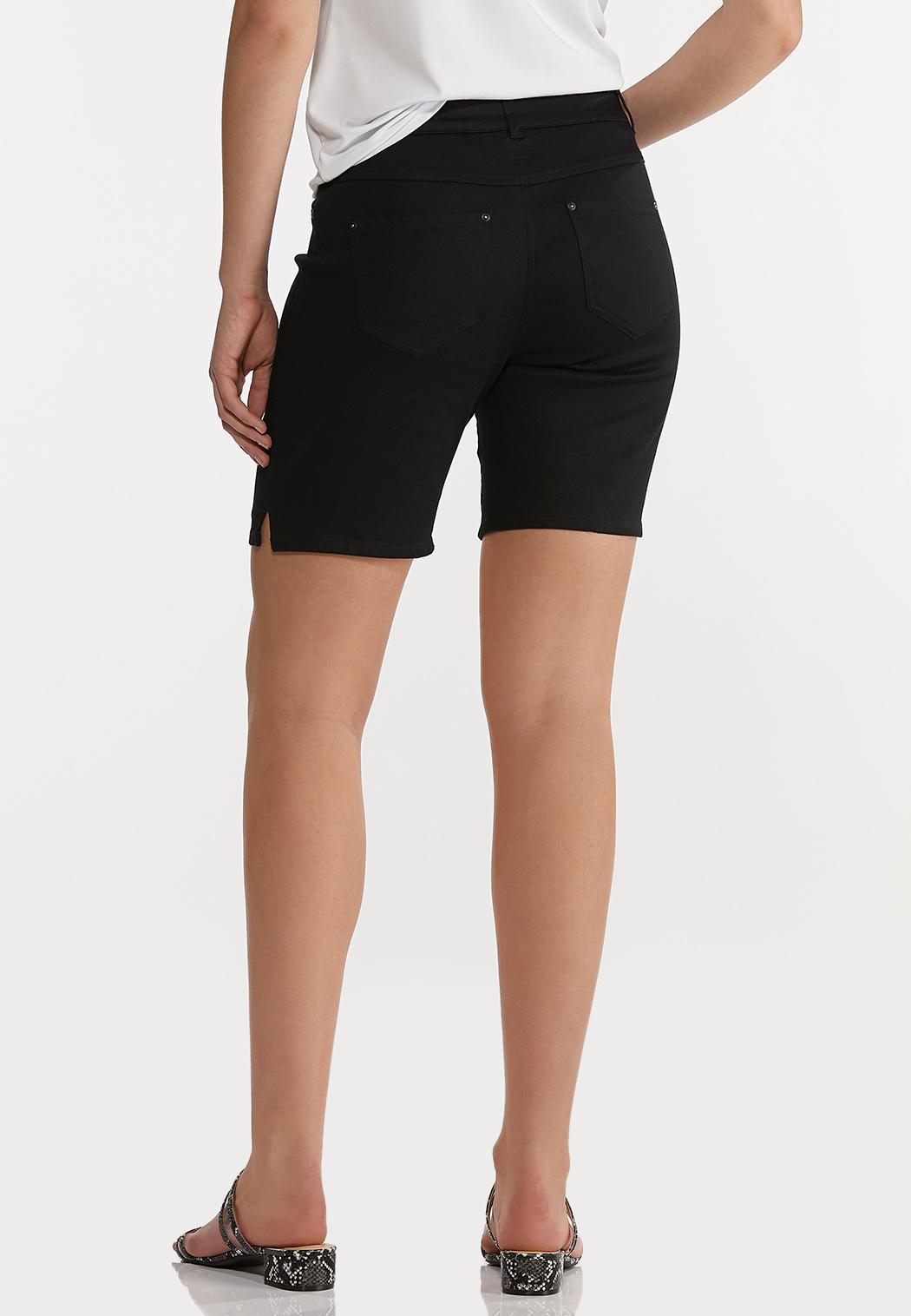Black Denim Shorts (Item #44197566)