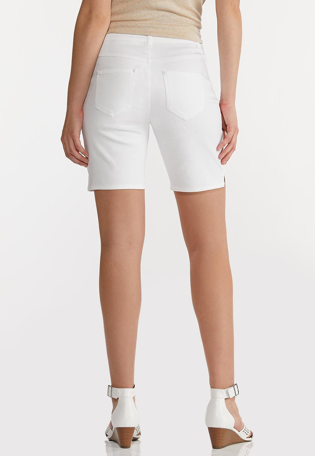 White Classic Denim Shorts (Item #44197607)