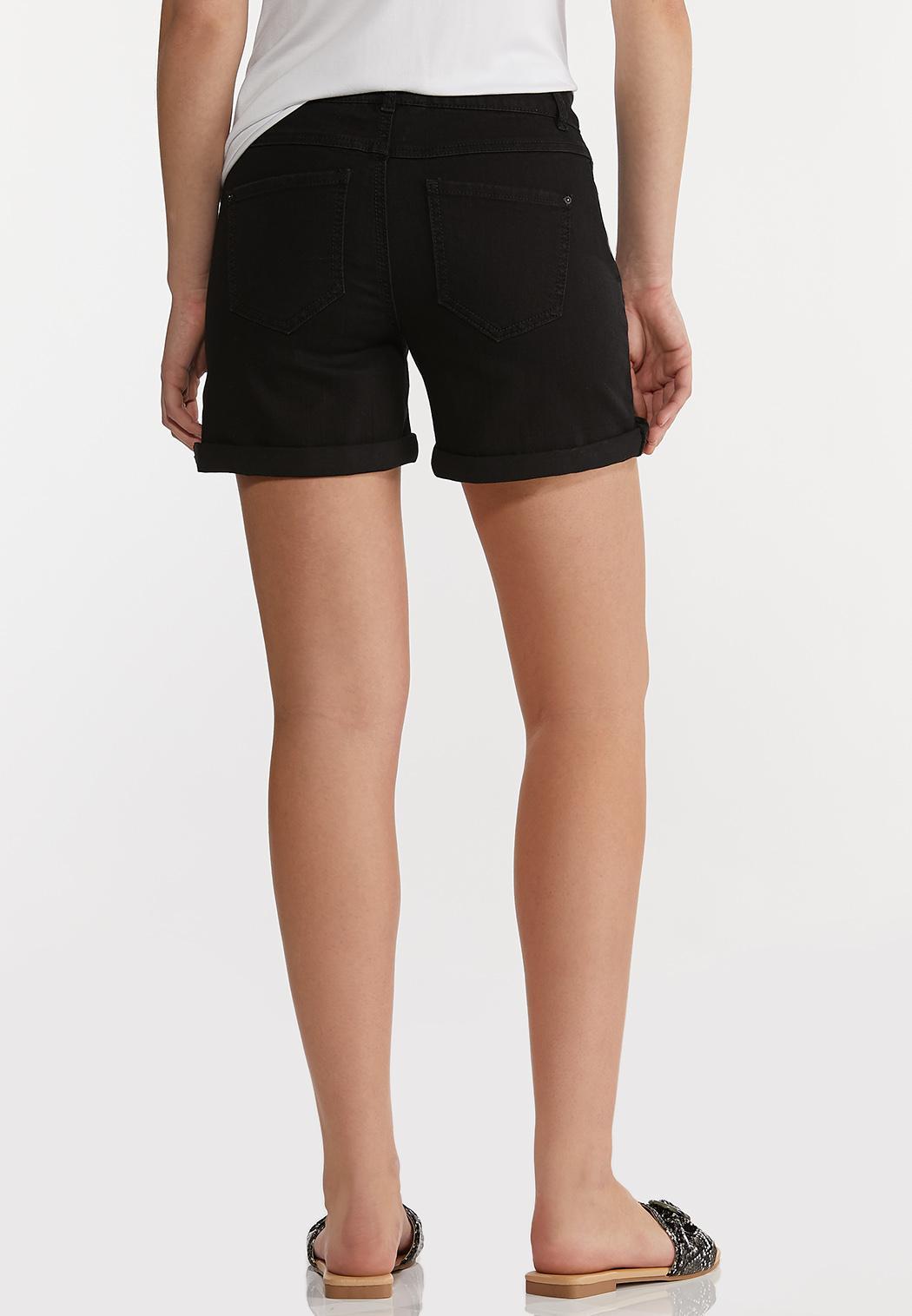 Black Denim Shorts (Item #44197726)