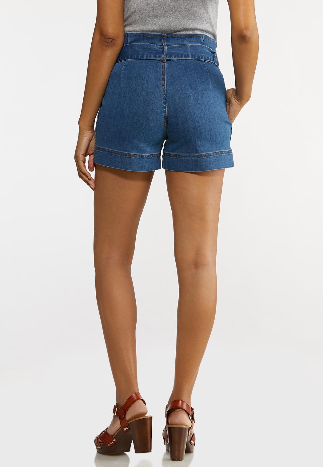 Paperbag Denim Shorts (Item #44198137)