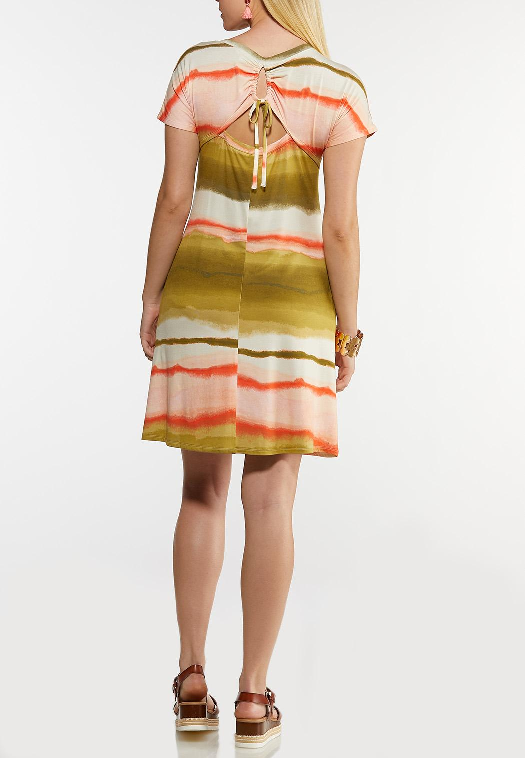 Watercolor Stripe Shirt Dress (Item #44198262)
