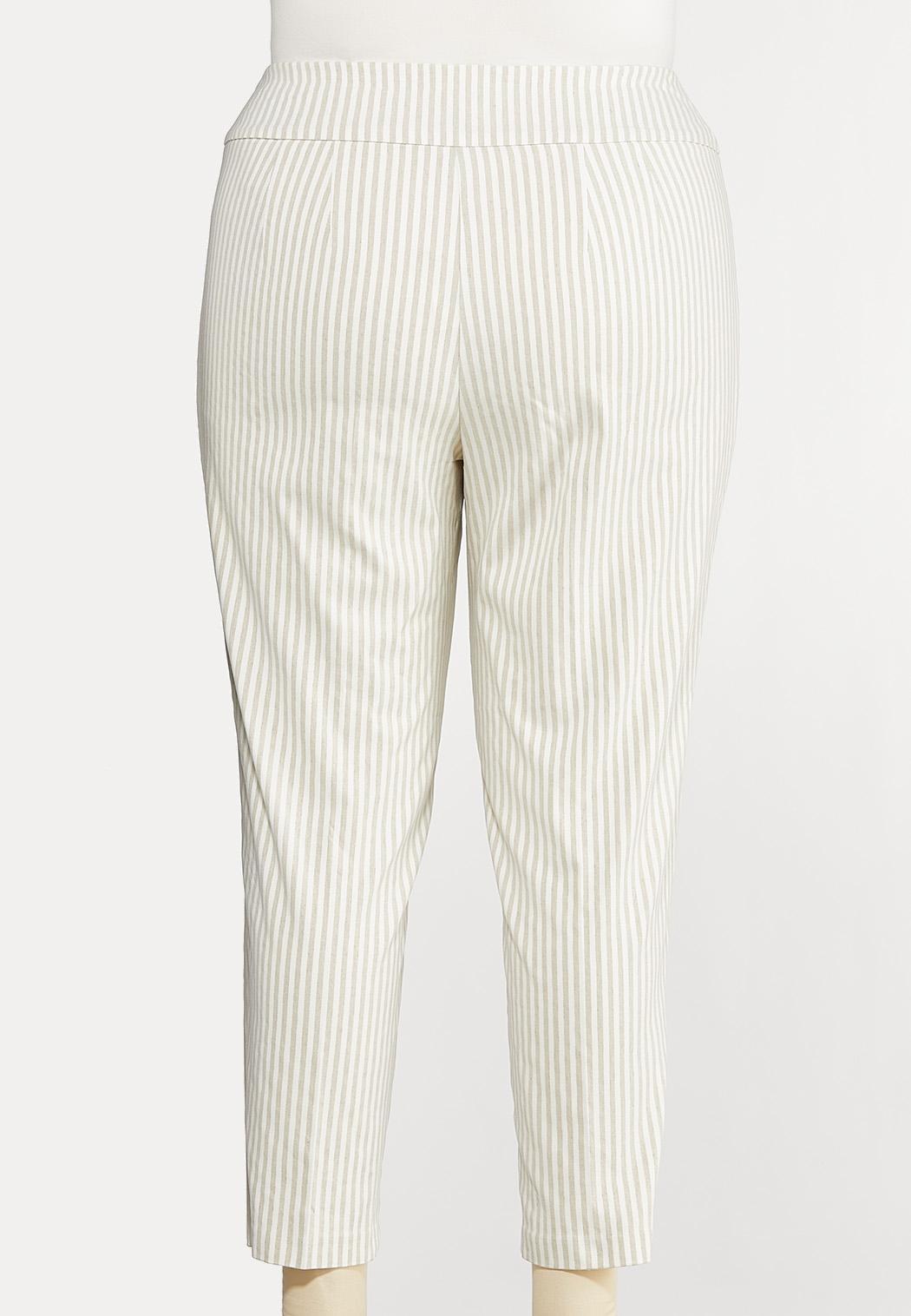 Plus Size Striped Bengaline Pants (Item #44198264)