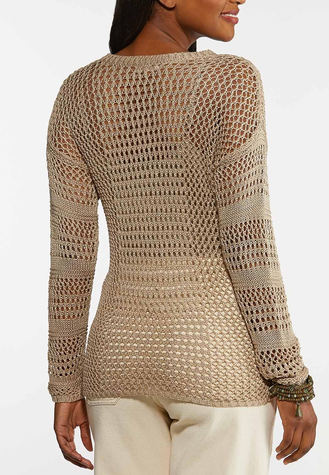 Open Stitch Pullover Sweater (Item #44198885)