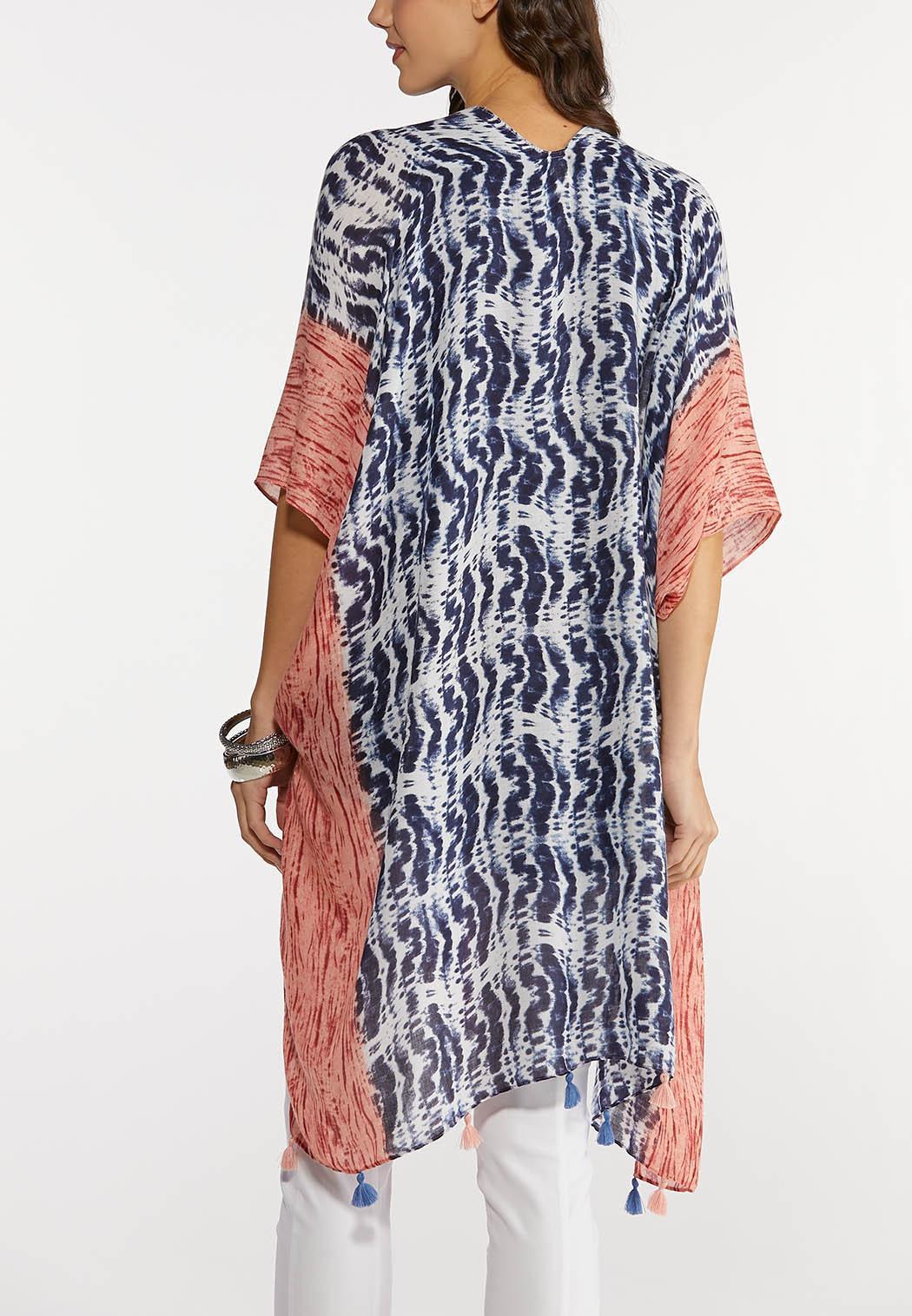 Wavy Tie Dye Kimono (Item #44199037)