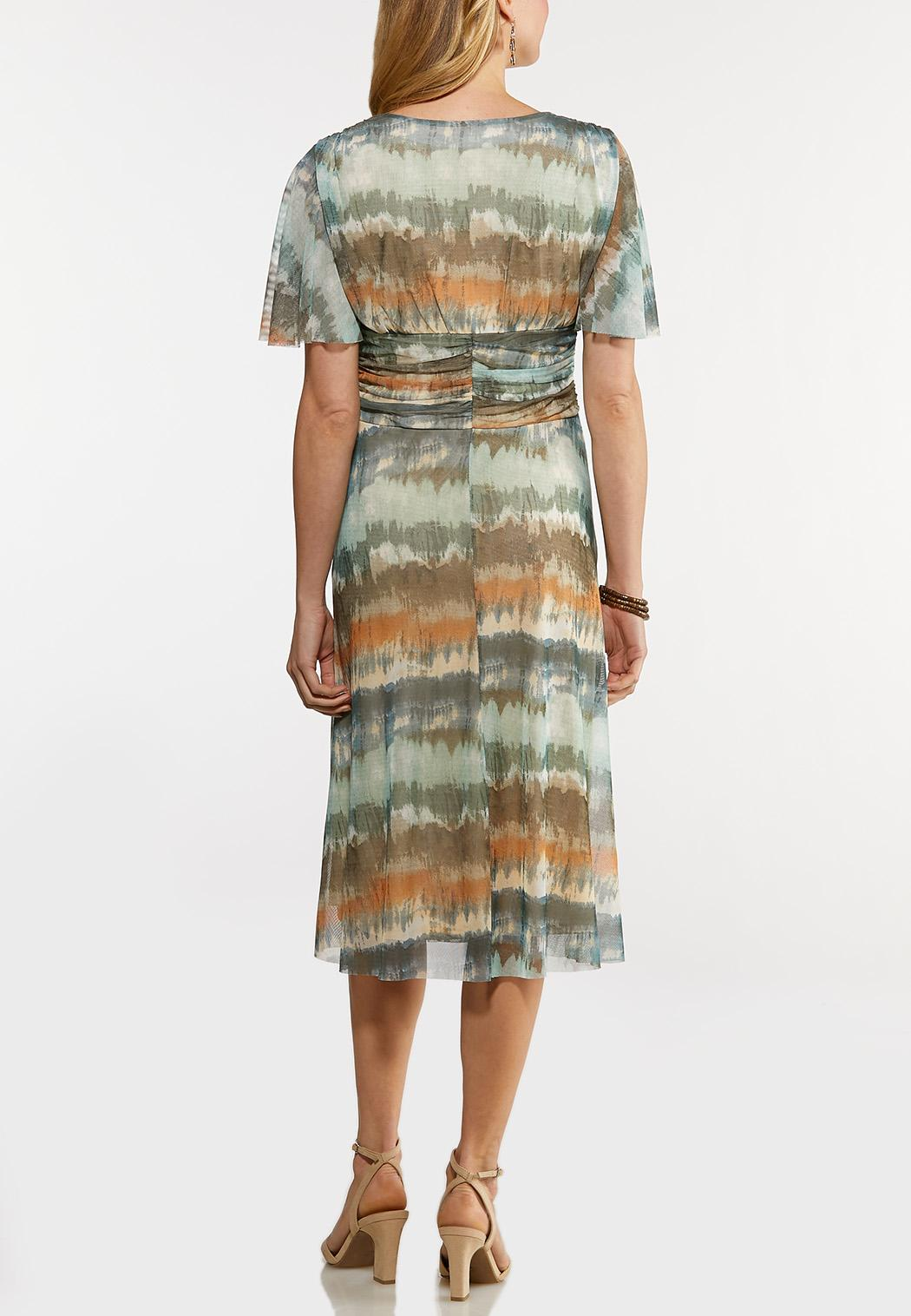 Plus Size Tie Dye Midi Dress (Item #44199068)