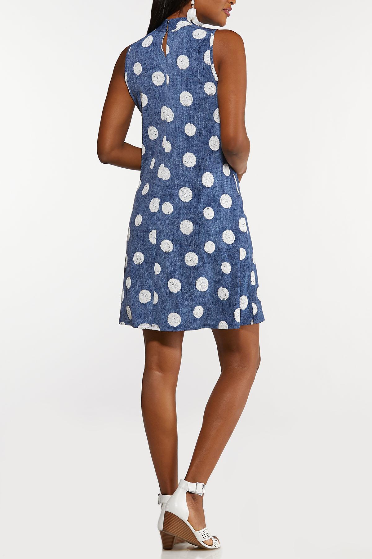 Plus Size Puff Dot Swing Dress (Item #44199954)