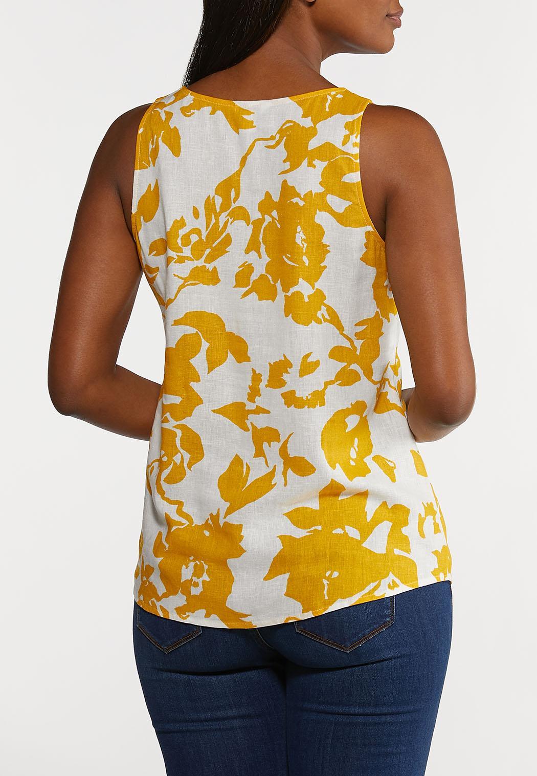 Golden Floral Tank (Item #44200738)