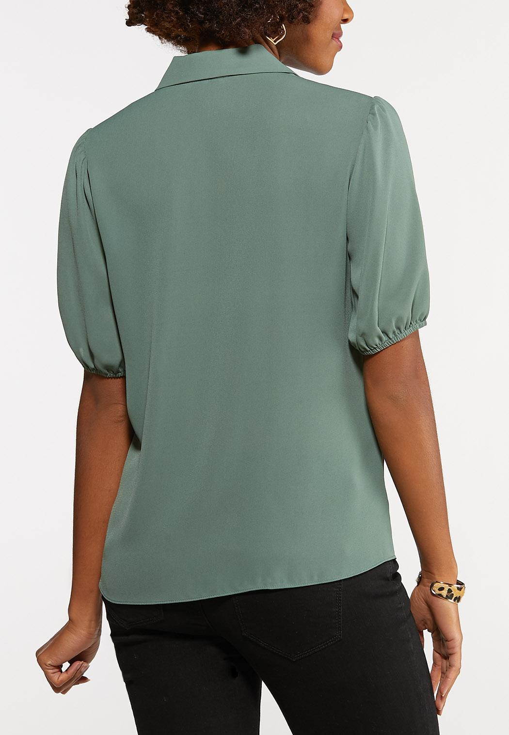 Plus Size Breezy Button Down Top (Item #44201015)
