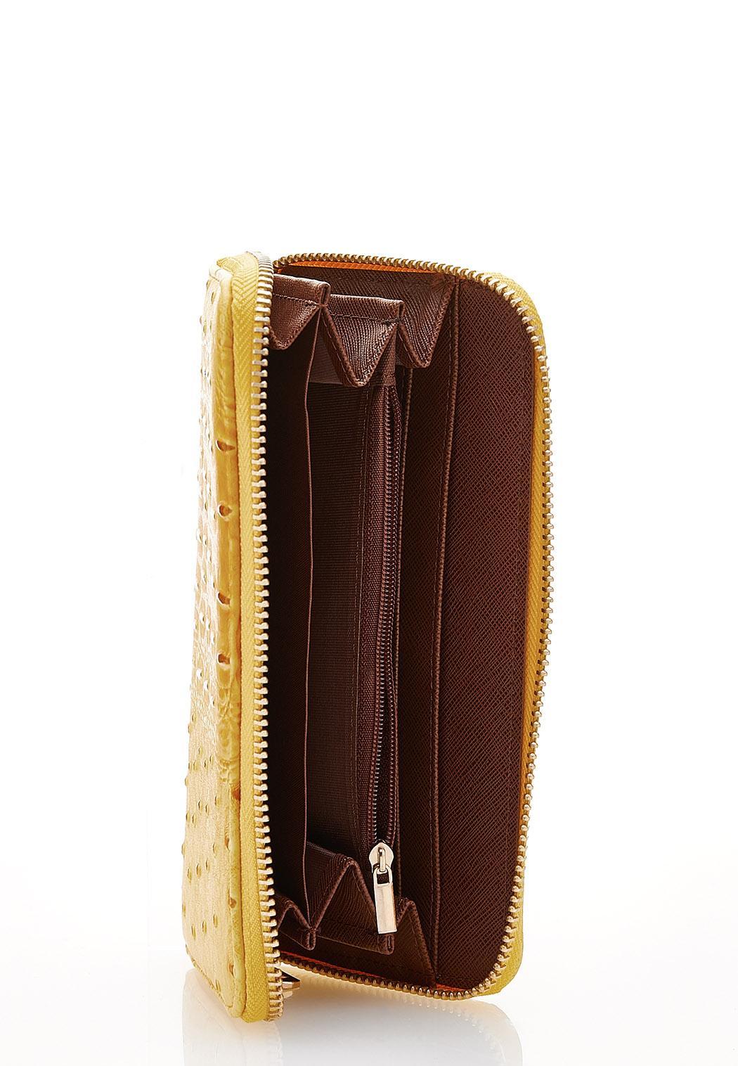 Yellow Ostrich Wallet (Item #44201201)
