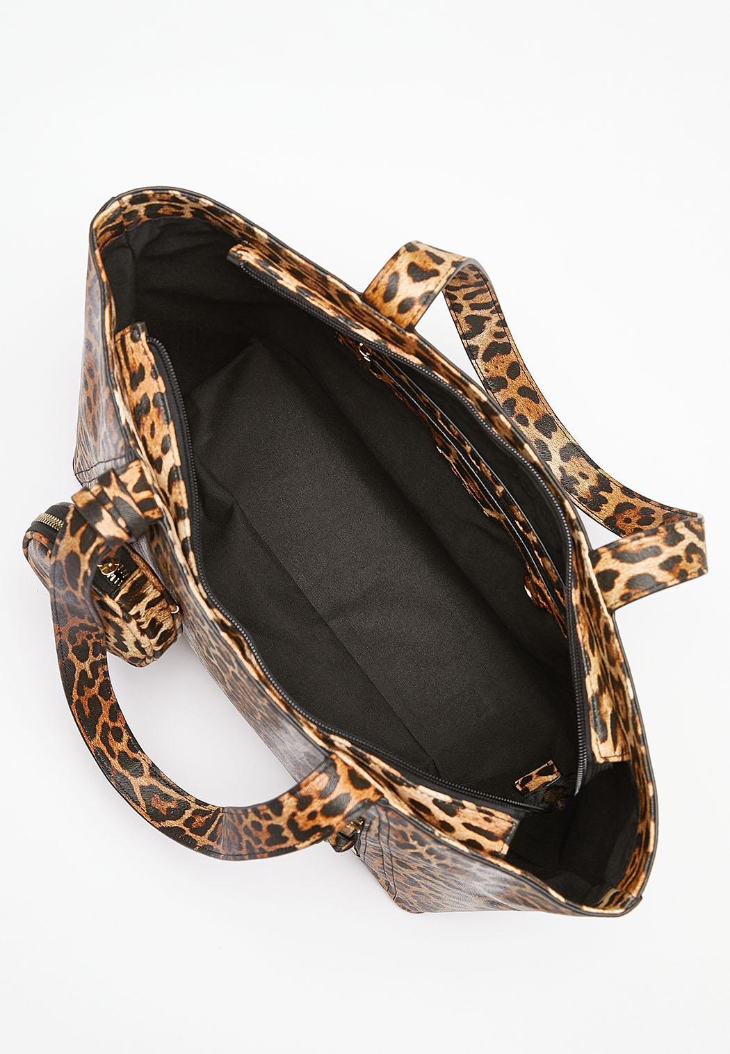 Leopard Zip Front Tote (Item #44201437)