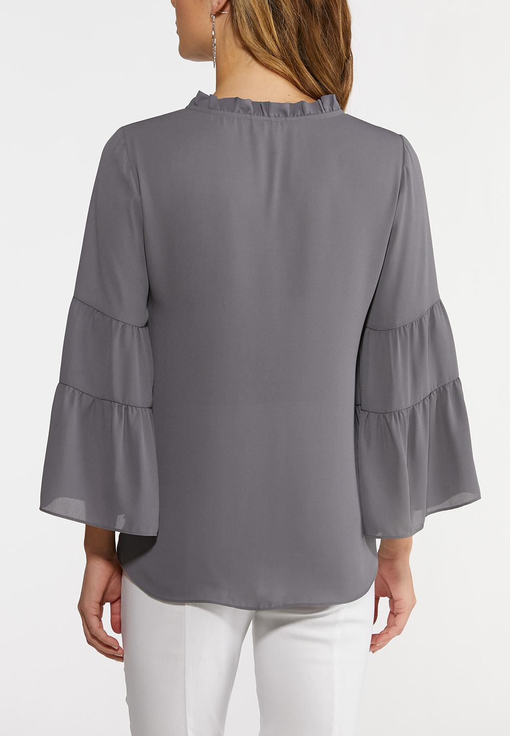 Plus Size Tiered Poet Sleeve Top (Item #44201596)
