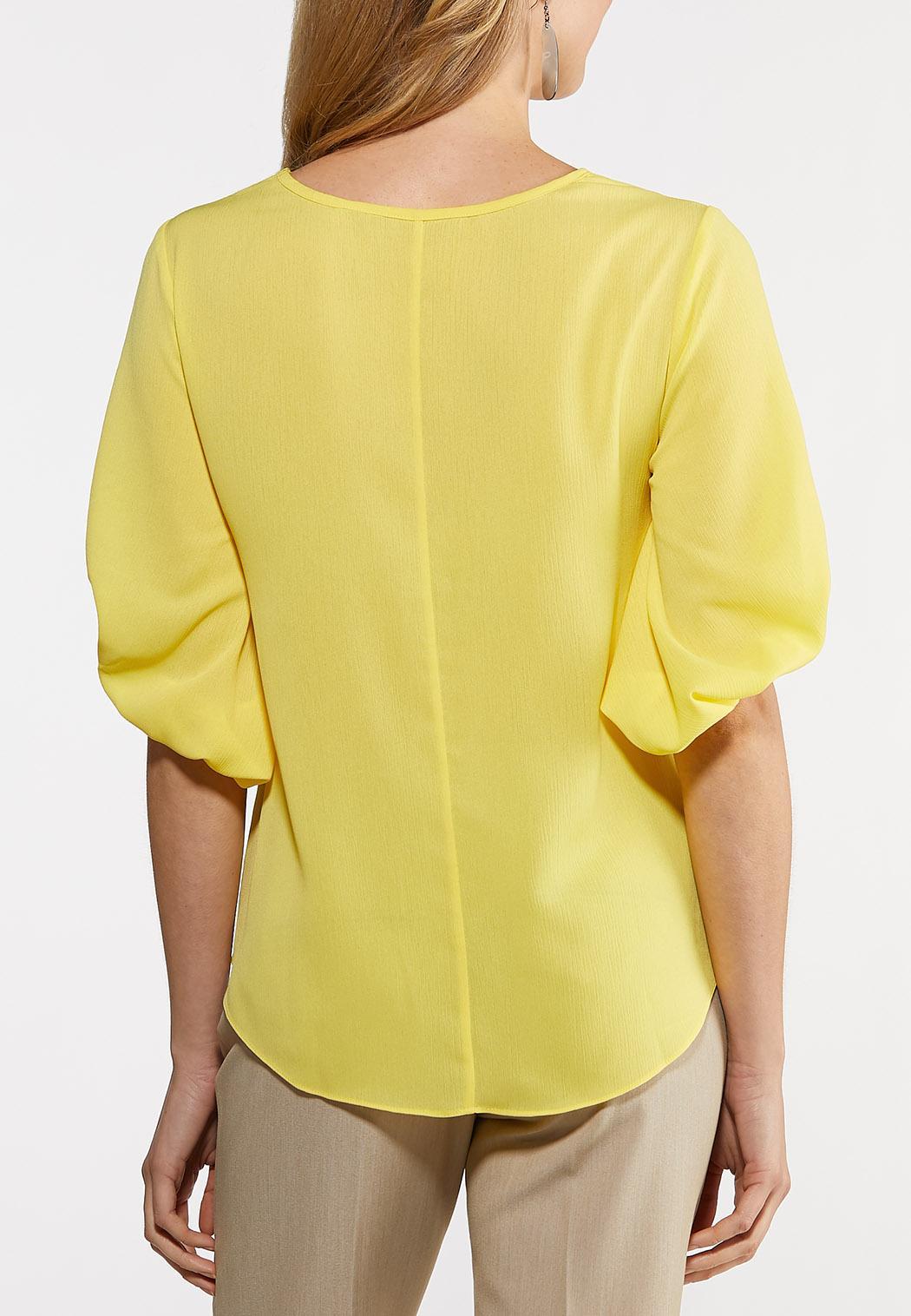 Plus Size Balloon Sleeve Top (Item #44201668)