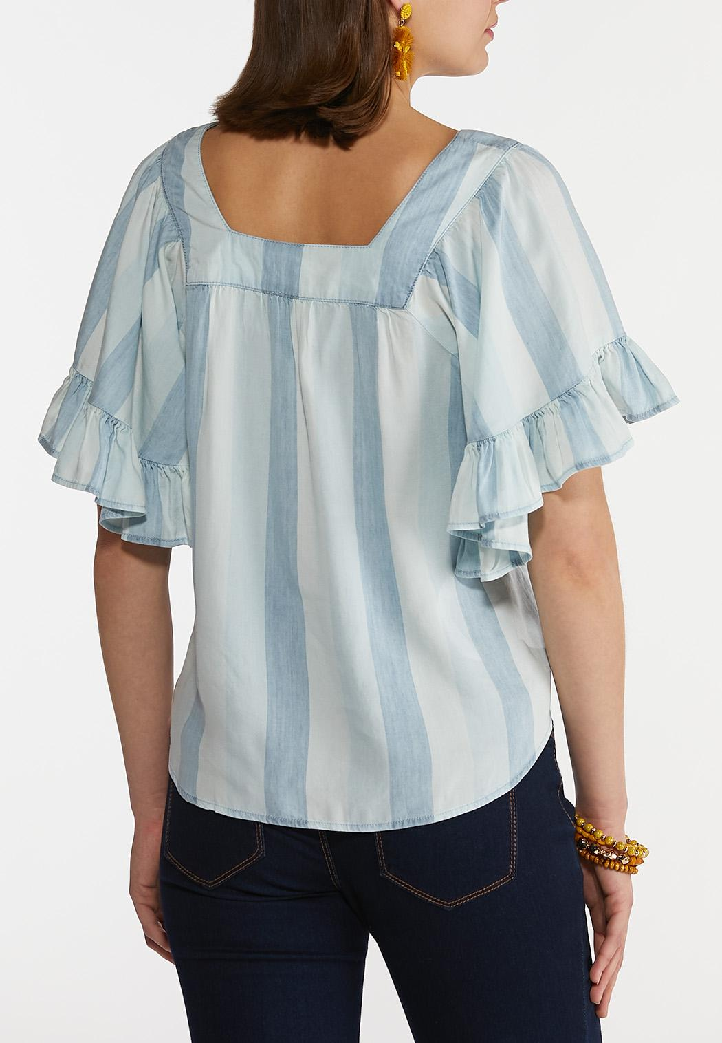 Ruffled Square Neck Top (Item #44202063)