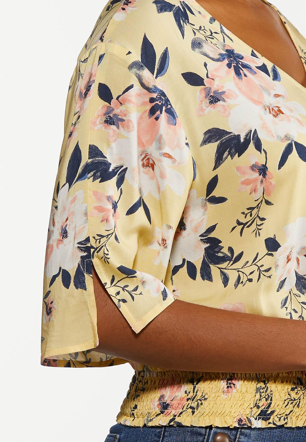 Smocked Sunshine Floral Top (Item #44202167)