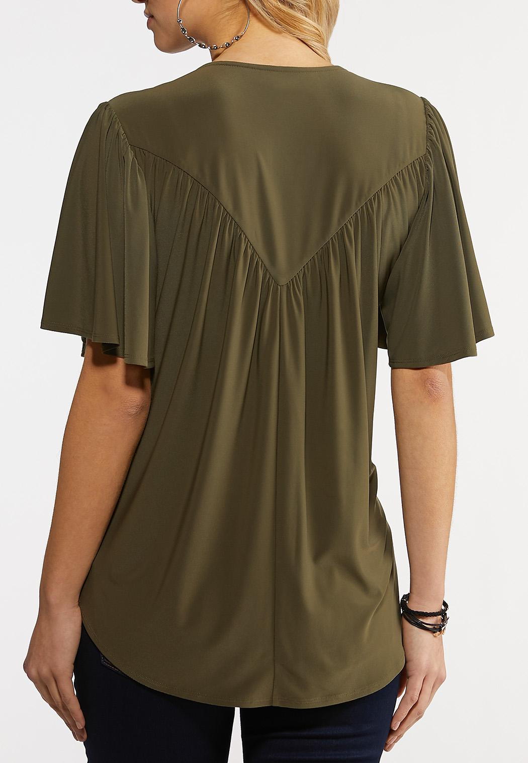Olive High-Low Top (Item #44202404)