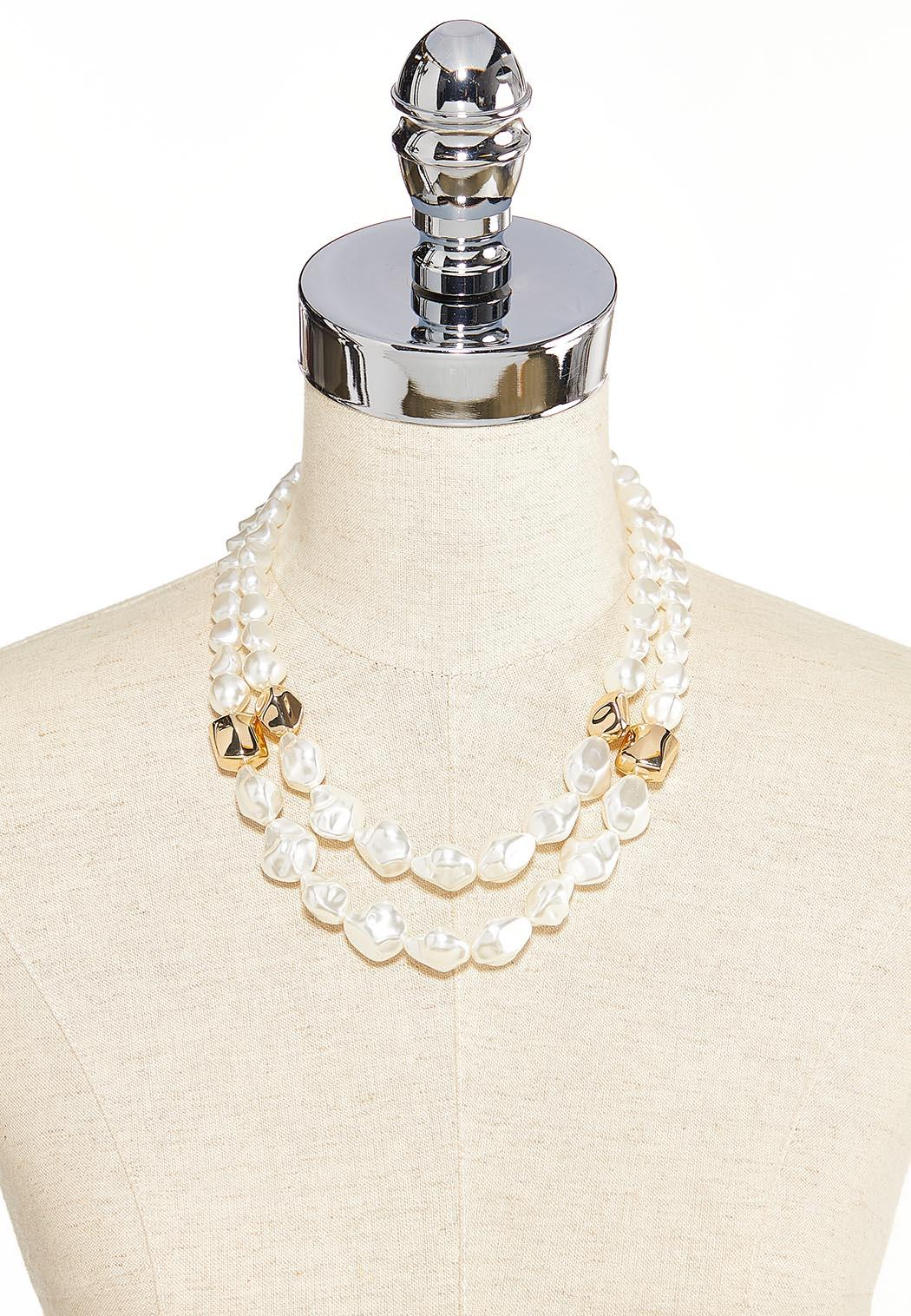 Pearl Gold Ball Necklace (Item #44203319)