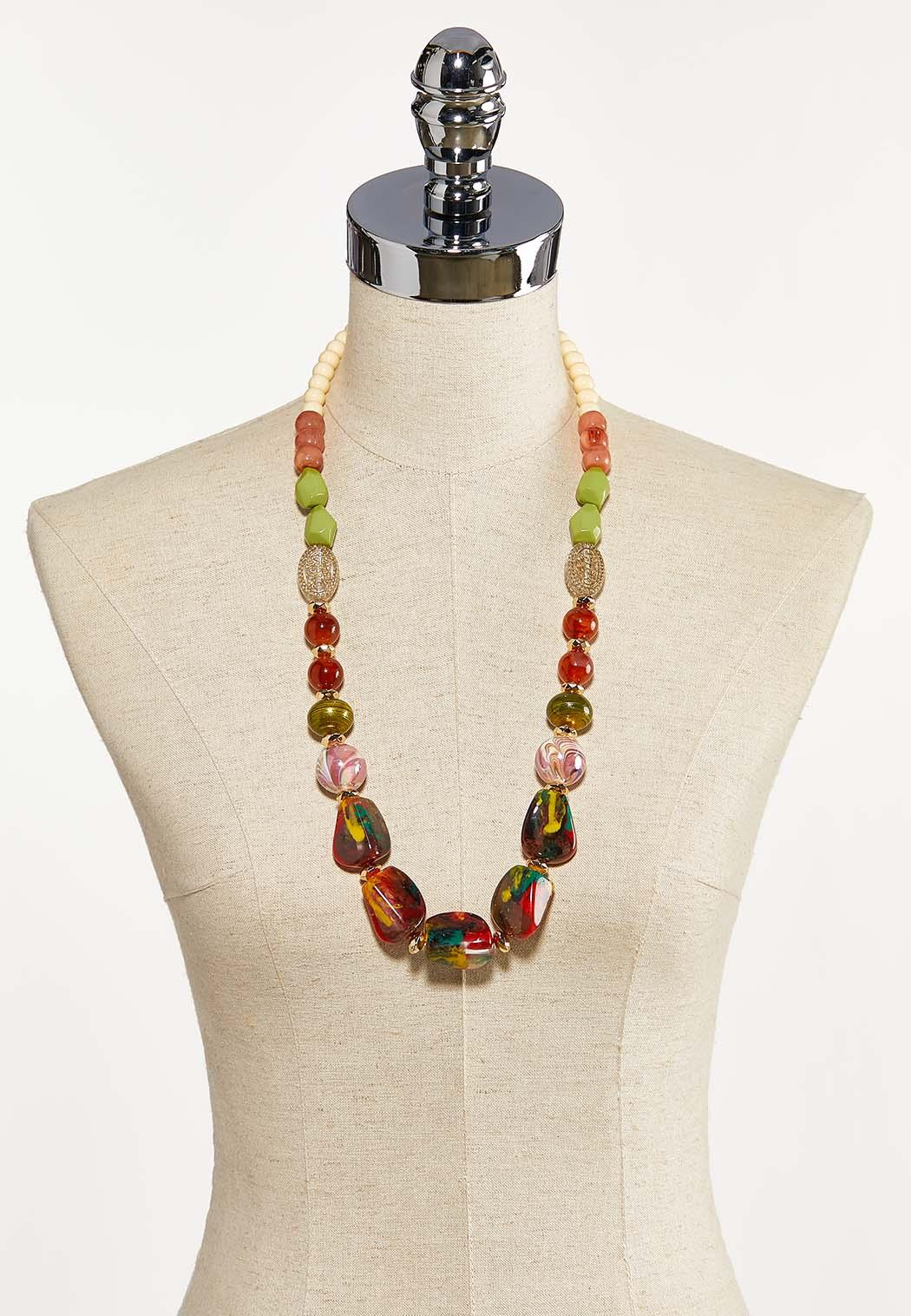 Multi Chunky Bead Long Necklace (Item #44203811)