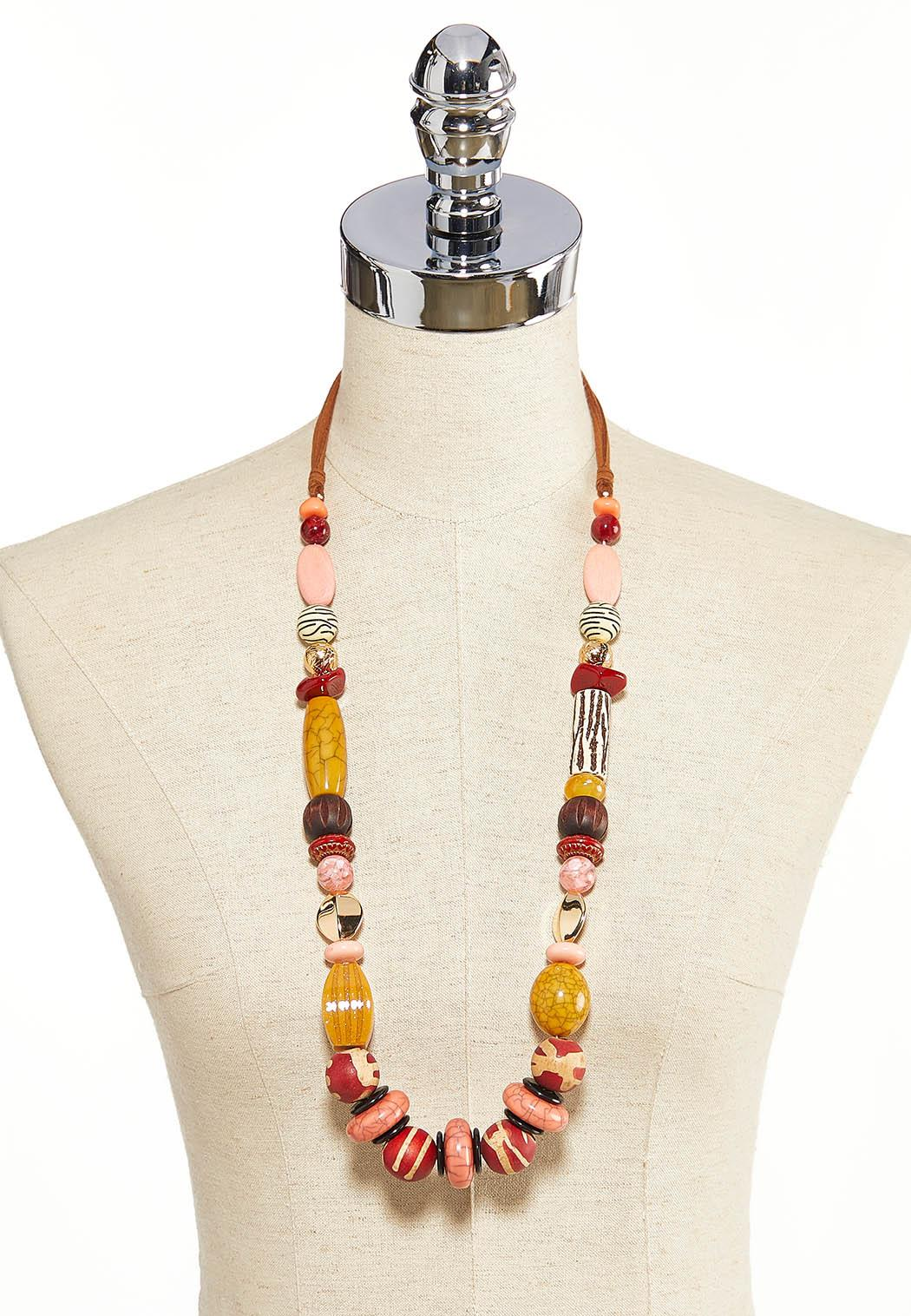 Long Chunky Bead Necklace (Item #44203849)