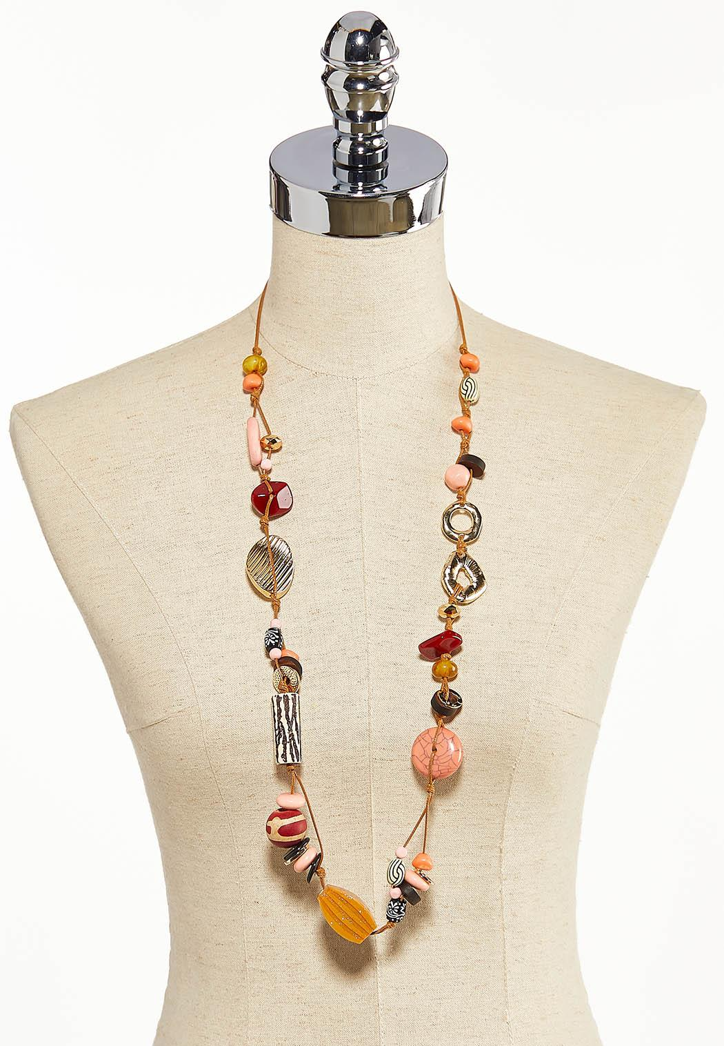 Long Assorted Bead Necklace (Item #44203852)