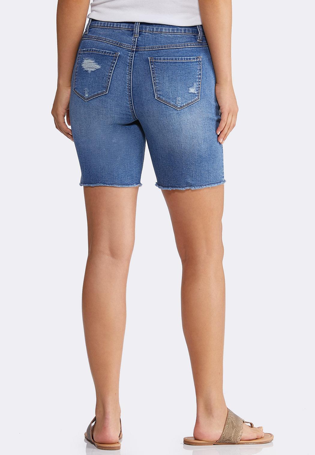 Distressed Jean Shorts (Item #44204032)