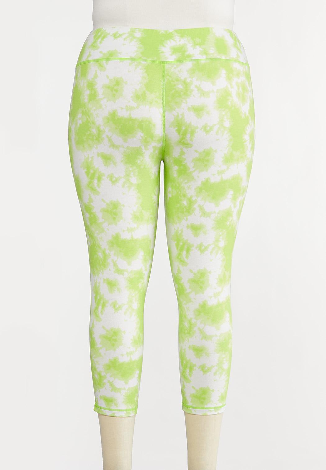 Plus Size Lime Tie Dye Leggings (Item #44204151)