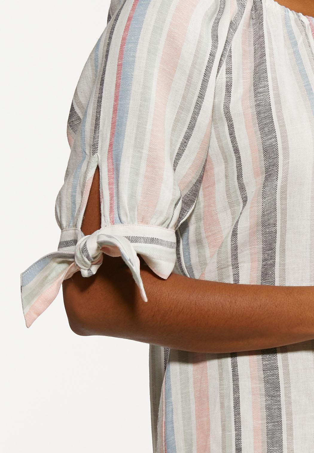 Plus Size Tie Sleeve Poet Top (Item #44204690)