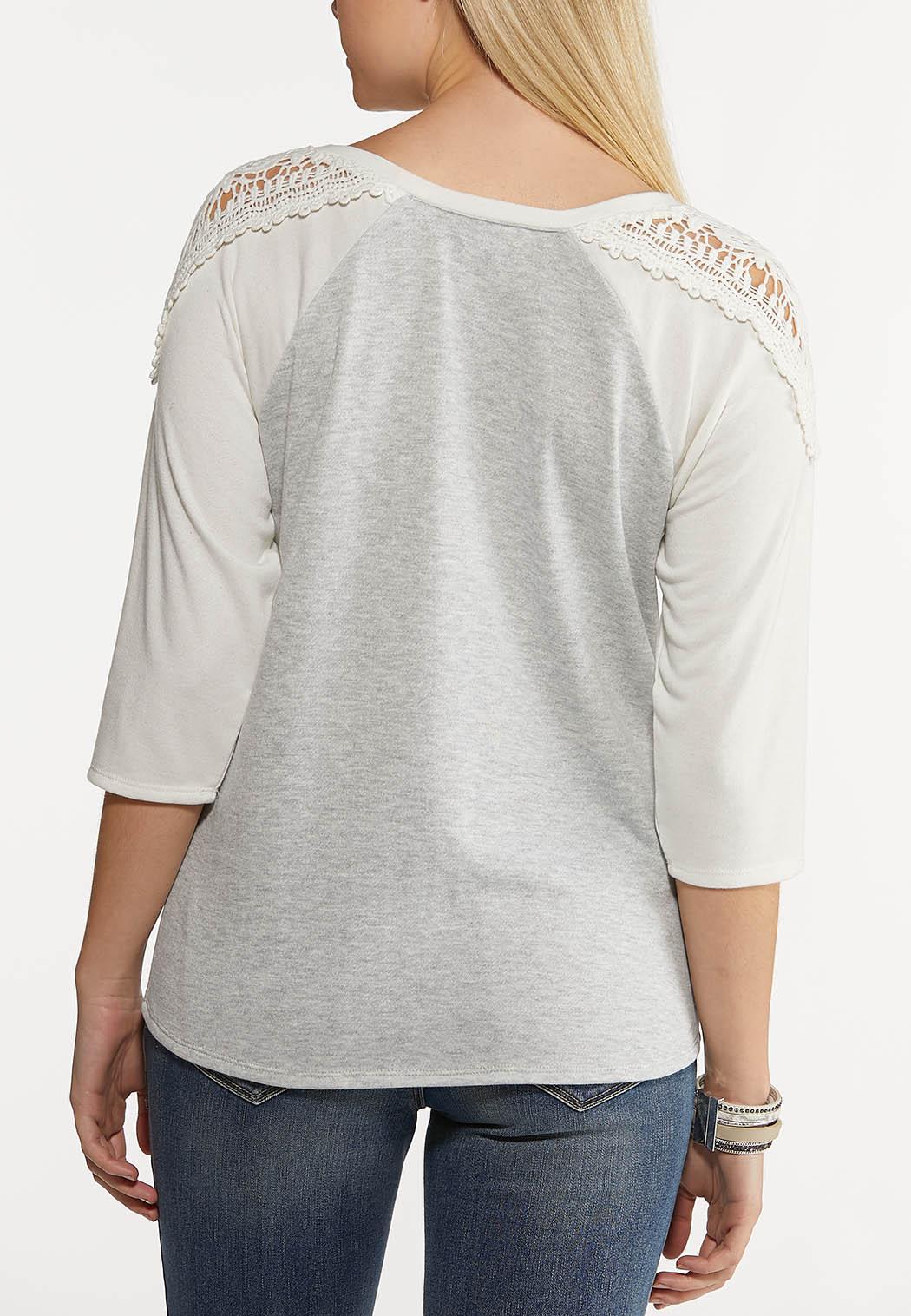 Sporty Lace Trim Top (Item #44204833)