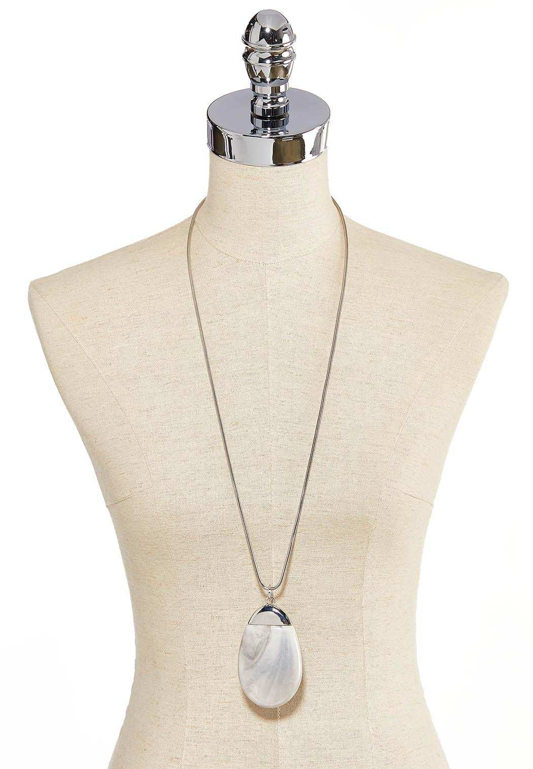 Large Marbled Pendant Necklace (Item #44205635)