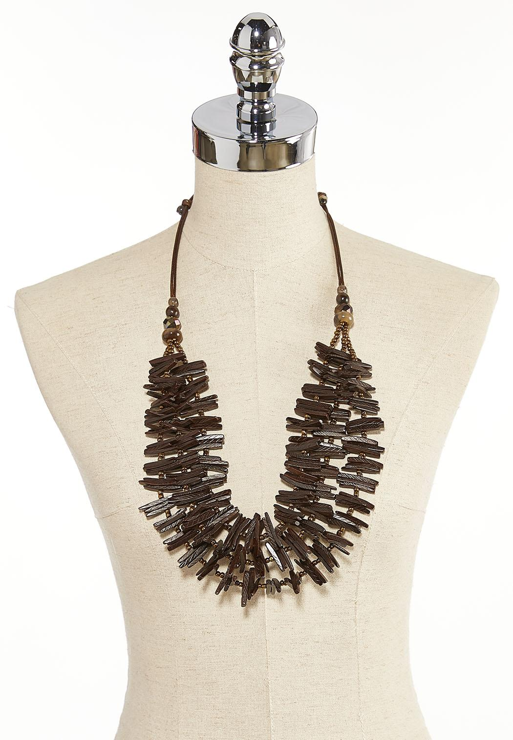 Wood Pull-String Necklace (Item #44205706)