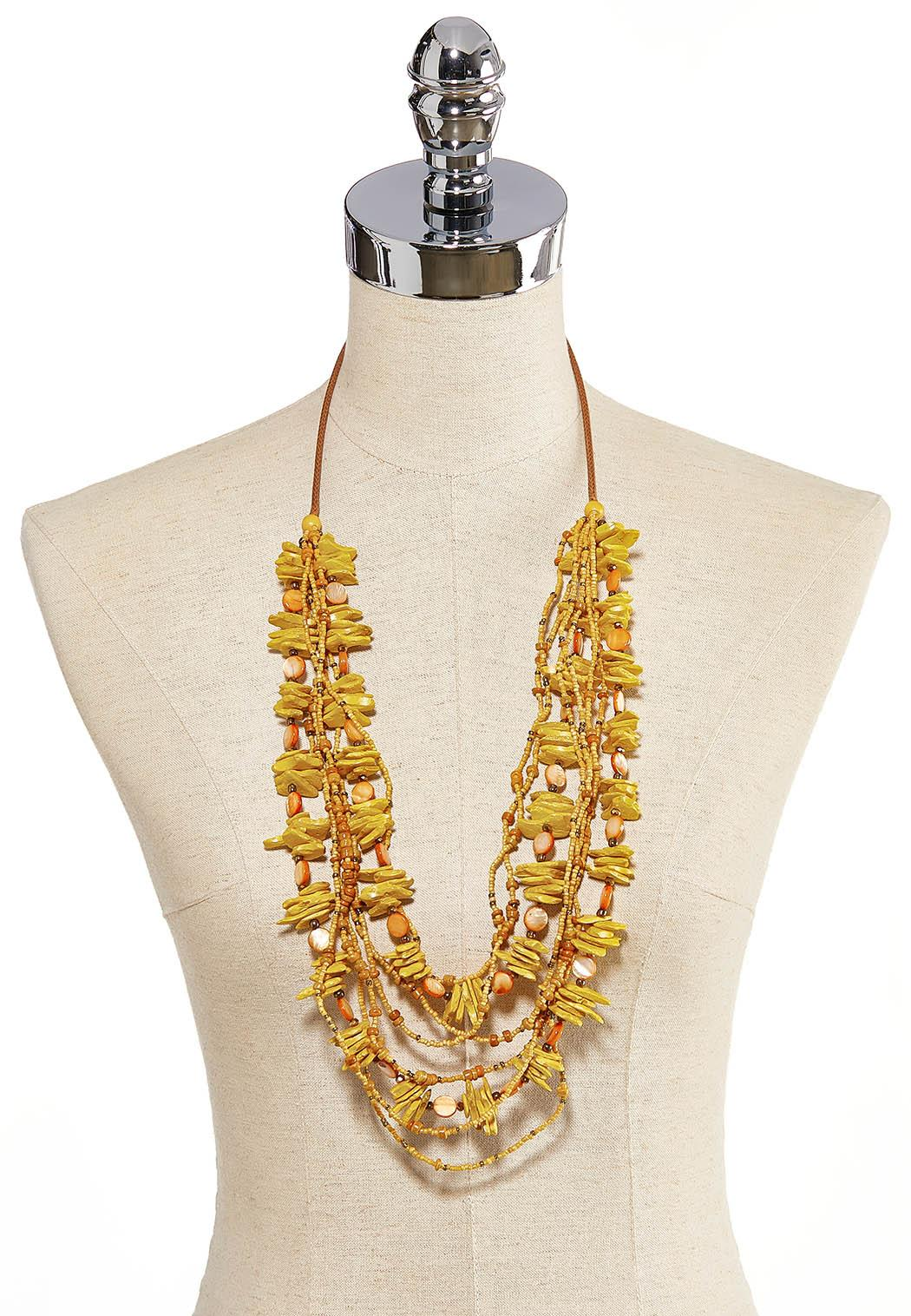 Layered Mixed Shell Necklace (Item #44205713)