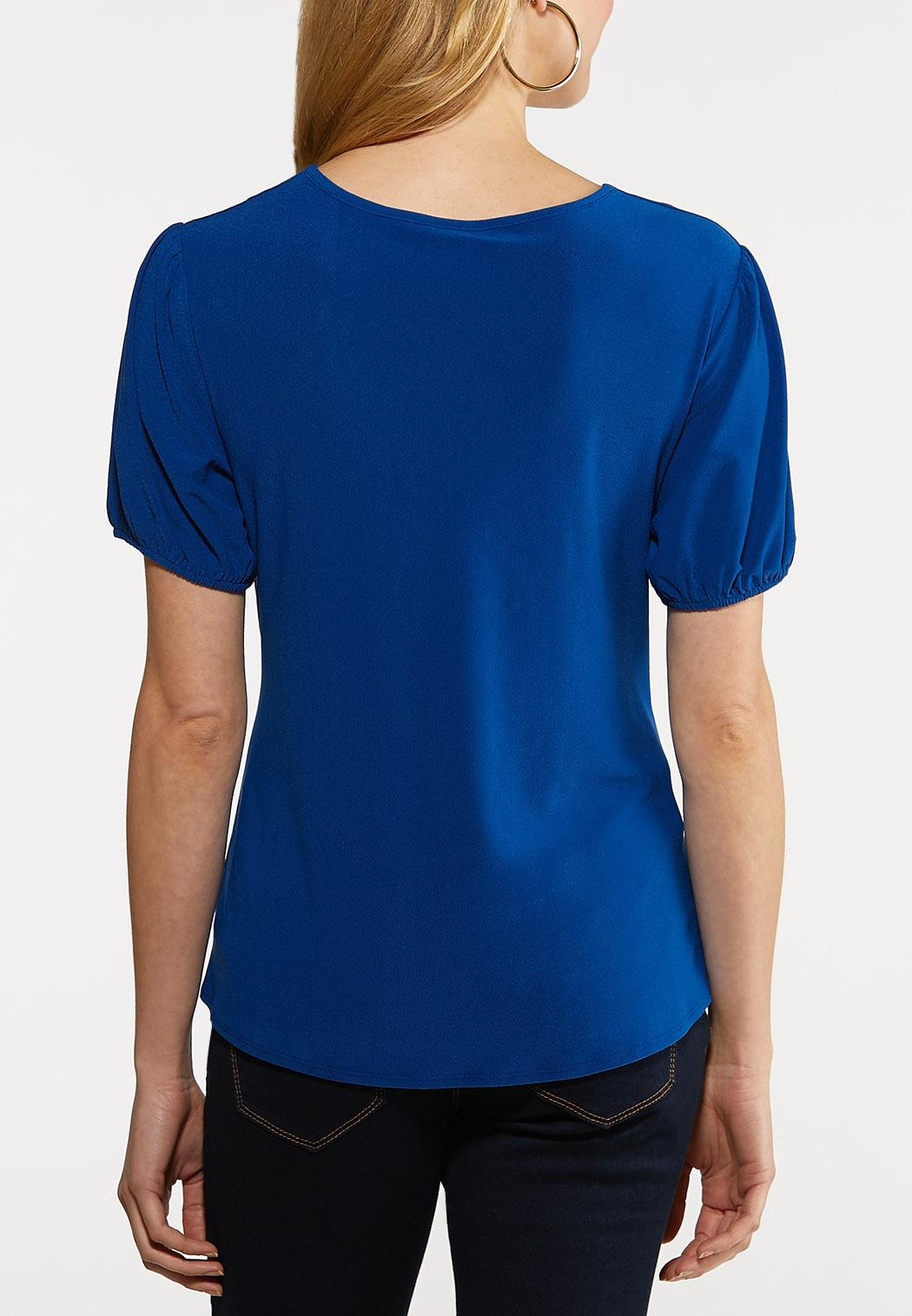 Blue Twisted Front Top (Item #44206430)
