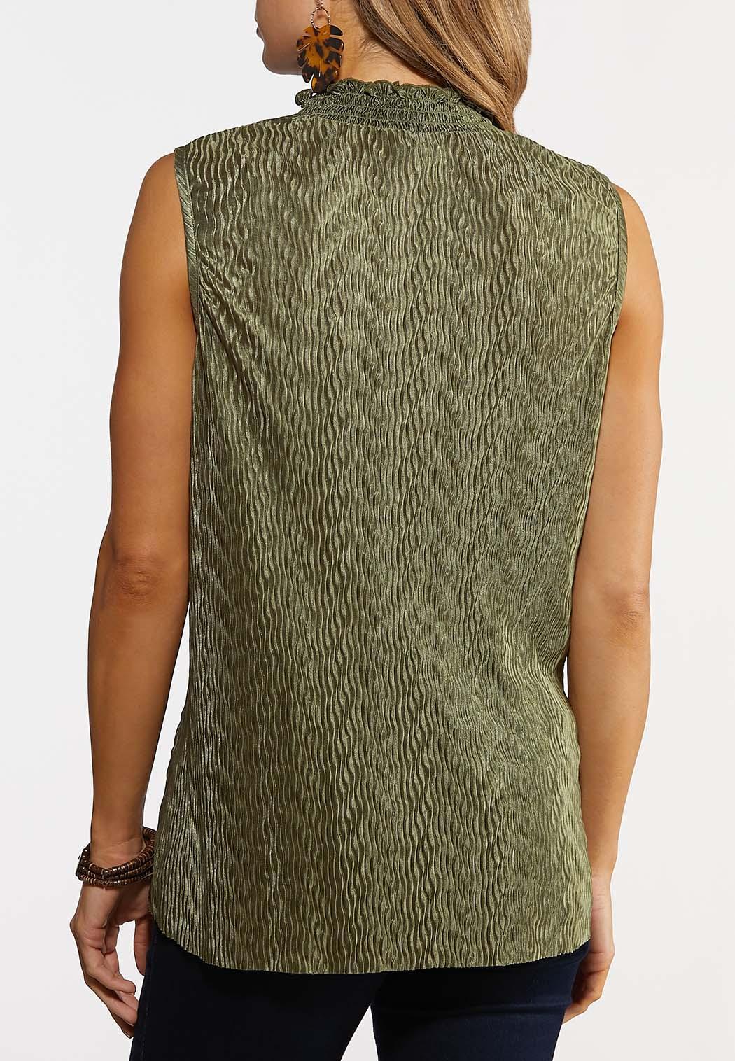 Textured Mock Neck Top (Item #44206620)