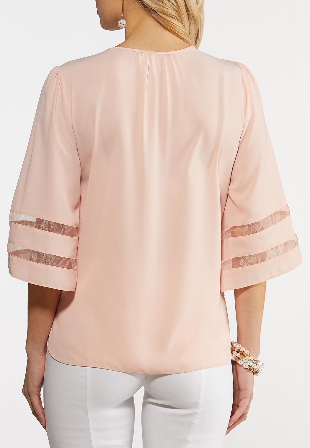 Blush Illusion Sleeve Top (Item #44208085)