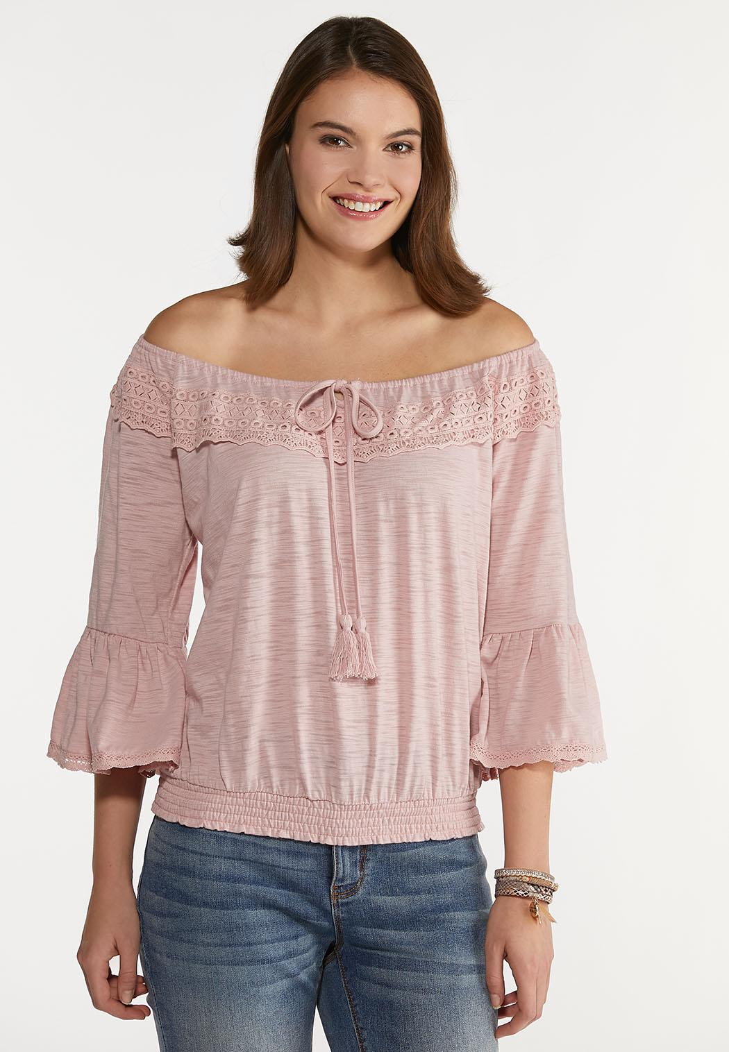 Crochet Bell Sleeve Top (Item #44210122)