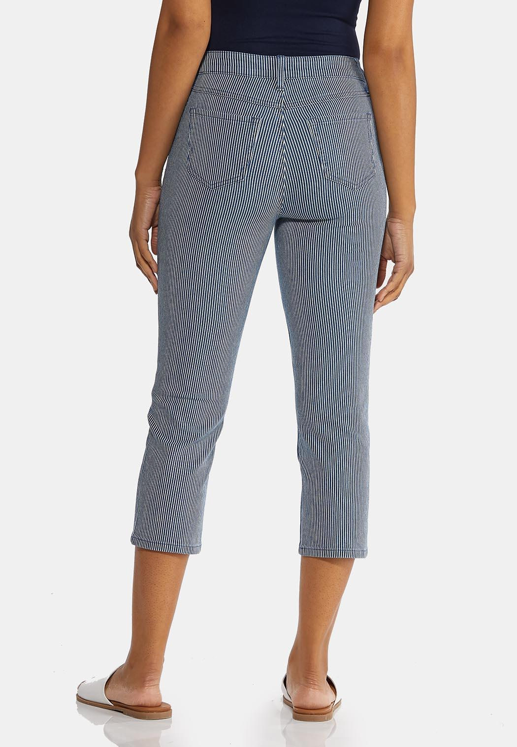 Cropped Nautical Stripe Pants (Item #44211265)