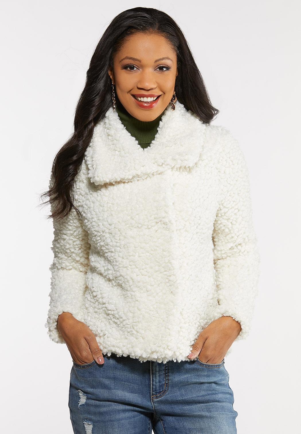 Fluffy Ivory Fur Jacket (Item #44211886)