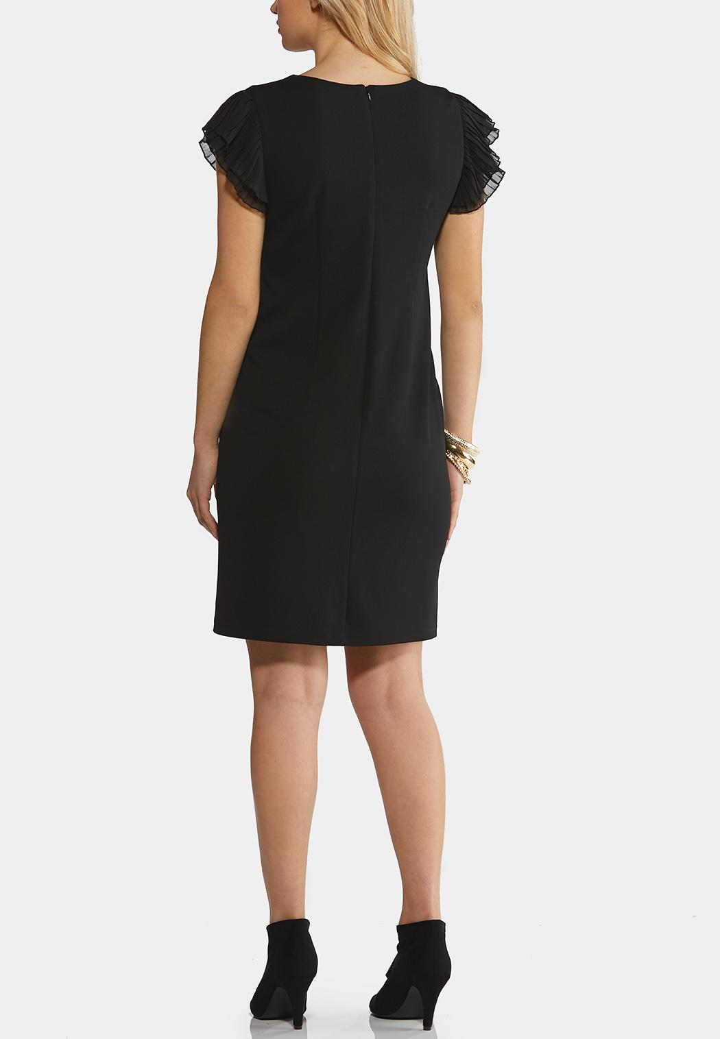 Pleated Sleeve Sheath Dress (Item #44211987)