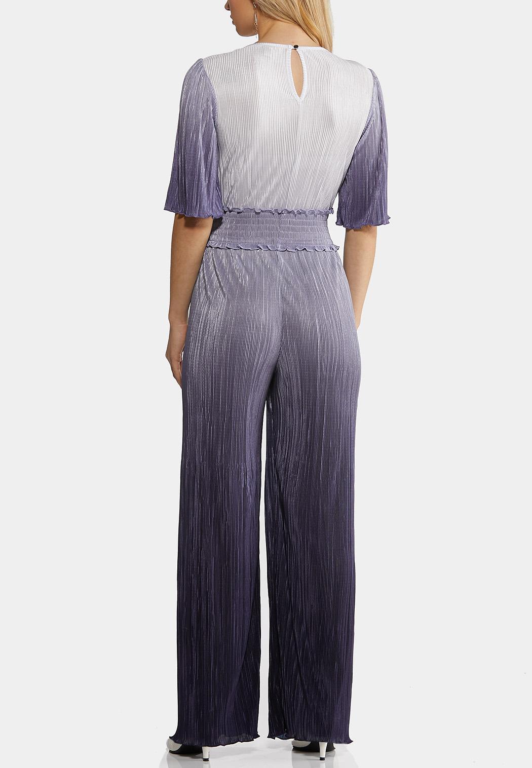 Pleated Ombre Blue Jumpsuit (Item #44212068)