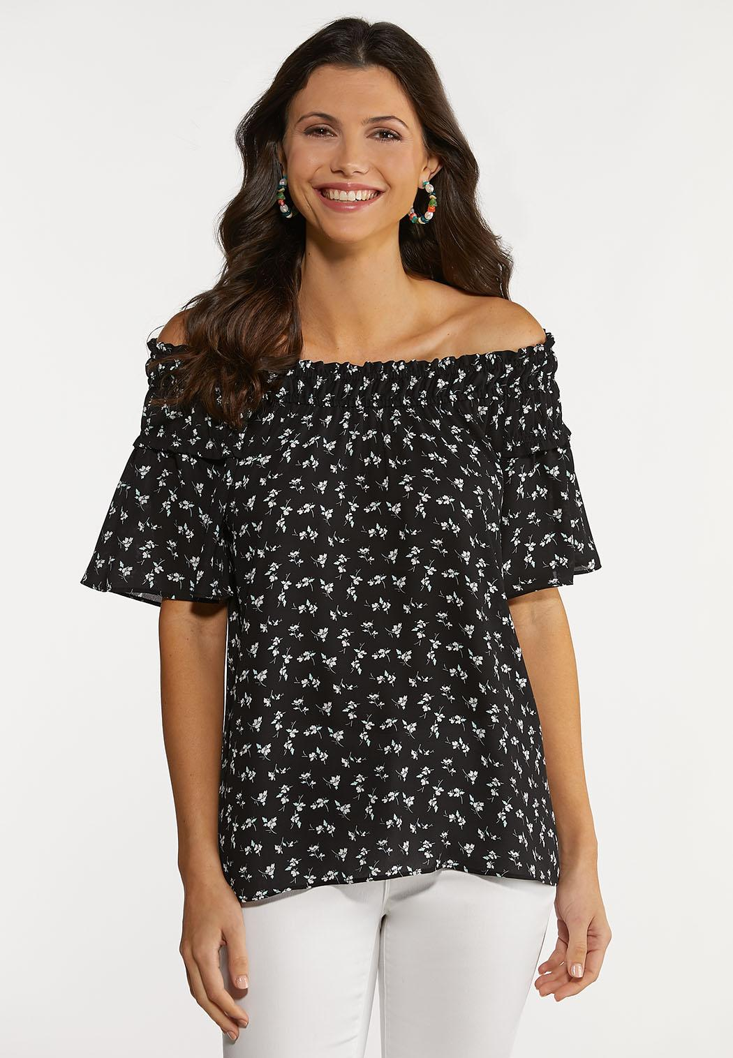 Ruffled Dainty Floral Top (Item #44213228)