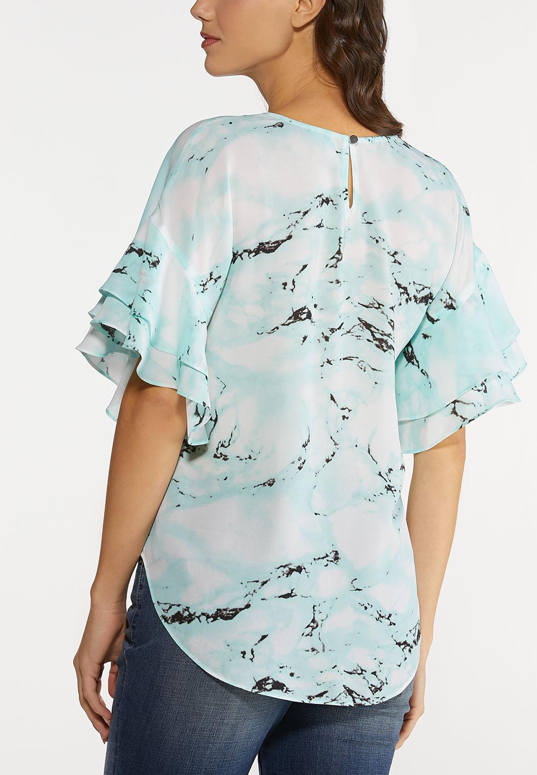 Plus Size Marbled Dye Top (Item #44213470)