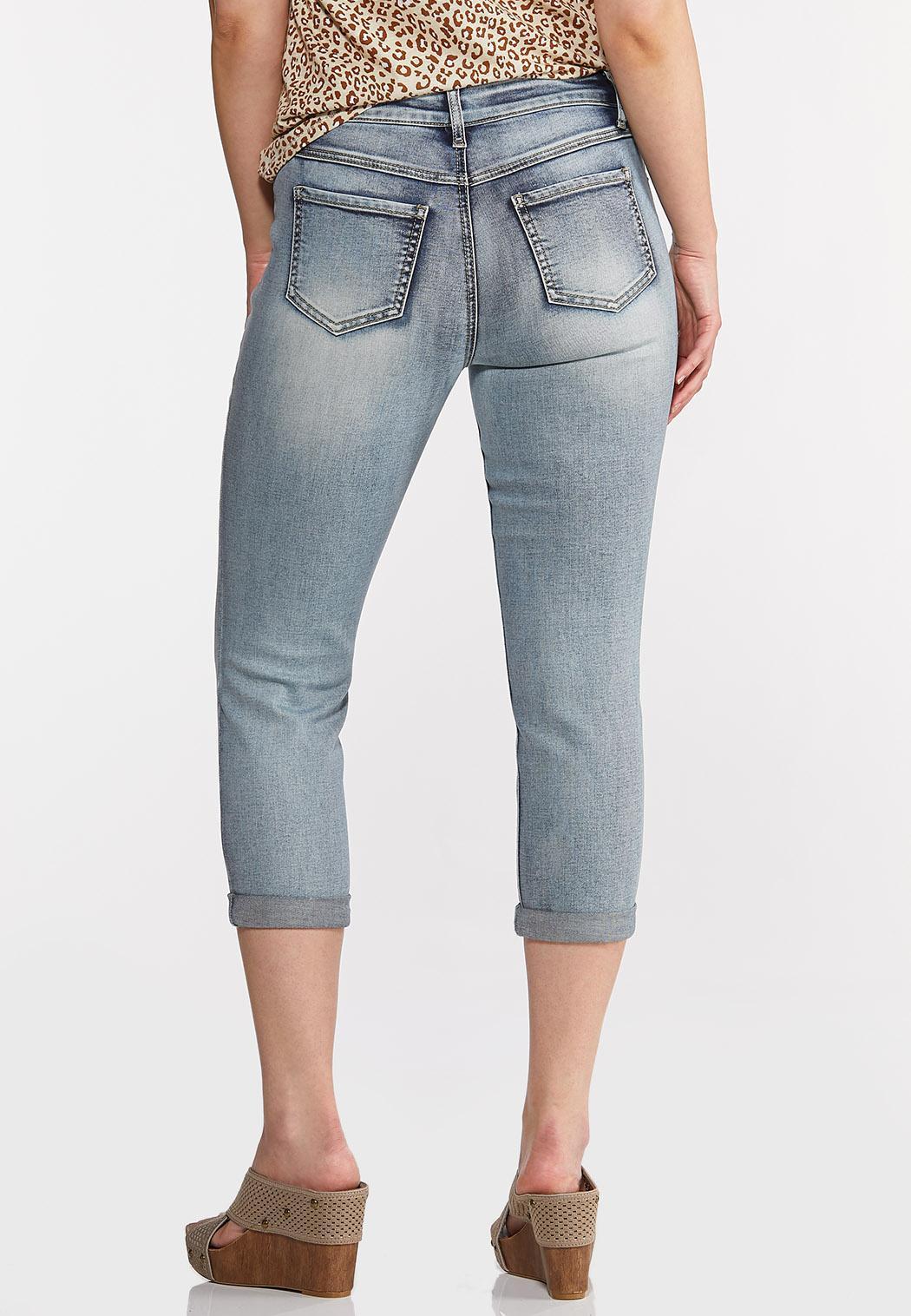 Shape Enhancing Cropped Jeans (Item #44213650)