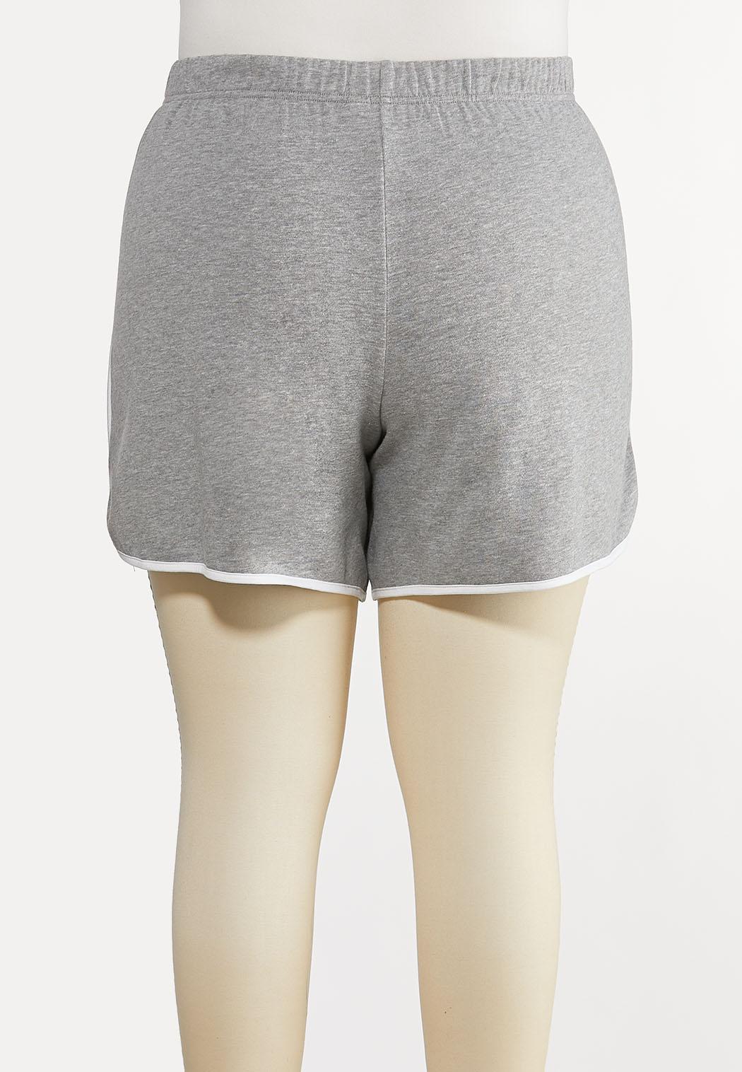 Plus Size Gray Athleisure Shorts (Item #44213822)