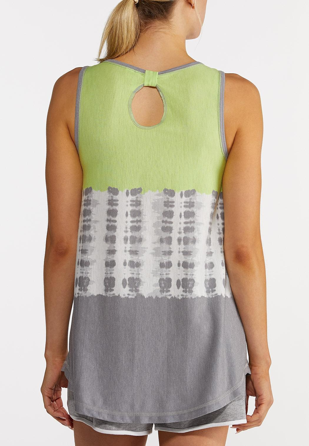 Plus Size Lime Tie Dye Tank (Item #44213996)