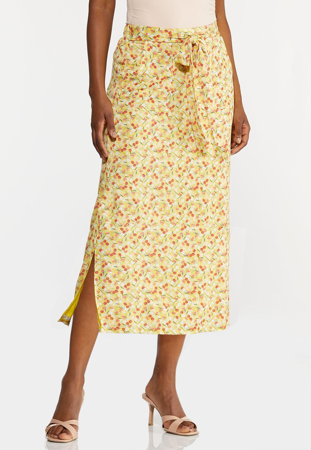Plus Size Sunny Floral Skirt (Item #44215776)