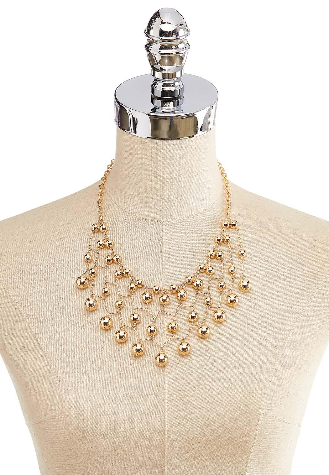 Netted Ball Bib Necklace (Item #44217057)